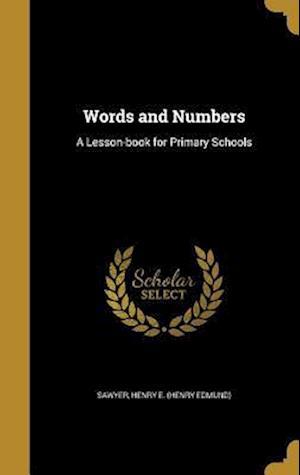 Bog, hardback Words and Numbers