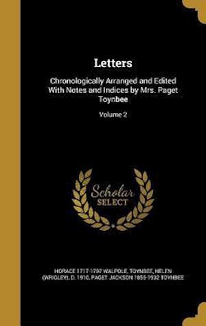 Bog, hardback Letters af Paget Jackson 1855-1932 Toynbee, Horace 1717-1797 Walpole