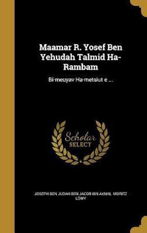 Bog, hardback Ma Amar R. Yosef Ben Yehudah Talmid Ha-Rambam