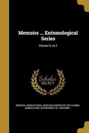 Bog, paperback Memoirs ... Entomological Series; Volume 5, No.1