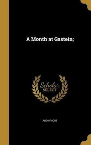 Bog, hardback A Month at Gastein;