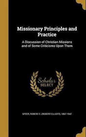 Bog, hardback Missionary Principles and Practice