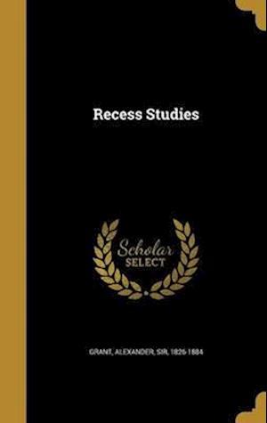 Bog, hardback Recess Studies