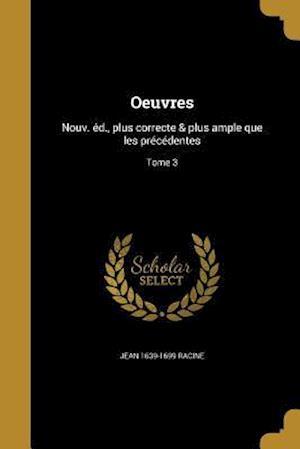 Bog, paperback Oeuvres af Jean 1639-1699 Racine
