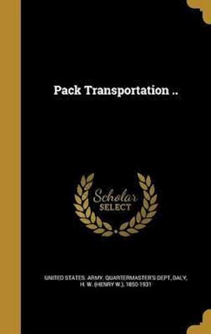 Bog, hardback Pack Transportation ..