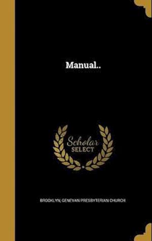 Bog, hardback Manual..