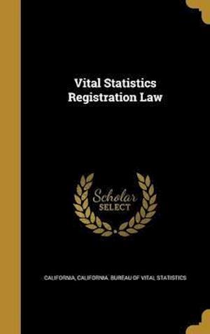 Bog, hardback Vital Statistics Registration Law