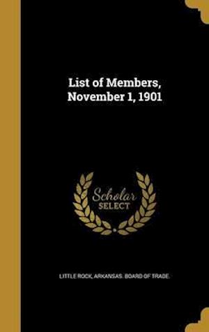 Bog, hardback List of Members, November 1, 1901