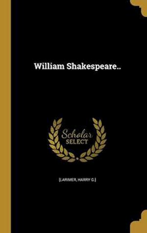 Bog, hardback William Shakespeare..