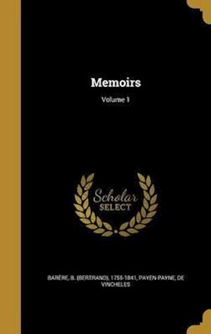 Bog, hardback Memoirs; Volume 1