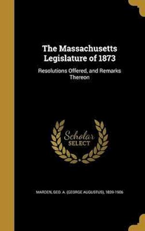 Bog, hardback The Massachusetts Legislature of 1873