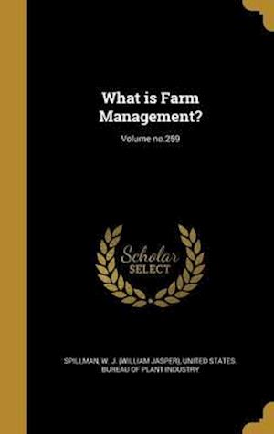 Bog, hardback What Is Farm Management?; Volume No.259