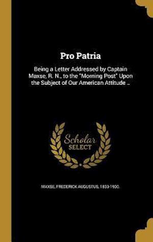 Bog, hardback Pro Patria