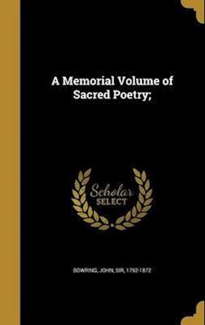 Bog, hardback A Memorial Volume of Sacred Poetry;