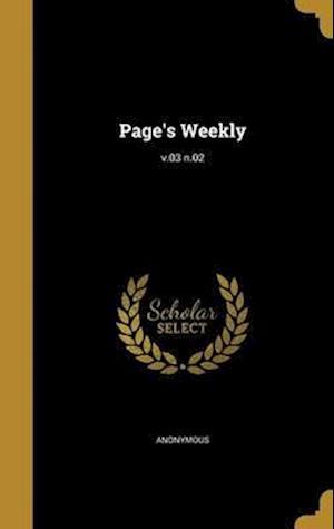 Bog, hardback Page's Weekly; V.03 N.02