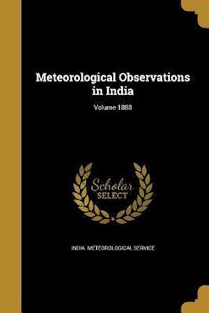 Bog, paperback Meteorological Observations in India; Volume 1888