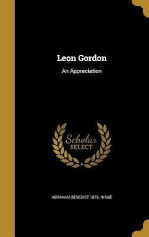 Bog, hardback Leon Gordon af Abraham Benedict 1876- Rhine