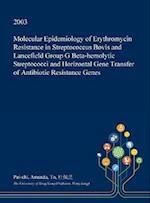 Molecular Epidemiology of Erythromycin Resistance in Streptococcus Bovis and Lancefield Group G Beta-hemolytic Streptococci and Horizontal Gene Transf