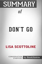 Summary of Don't Go by Lisa Scottoline: Conversation Starters