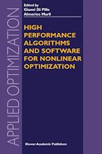 High Performance Algorithms and Software for Nonlinear Optimization (APPLIED OPTIMIZATION, nr. 82)