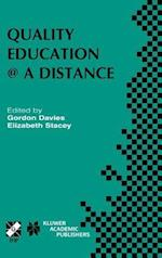Quality Education @ a Distance af Gordon Davies