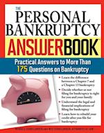 Personal Bankruptcy Answer Book (Answer Book)
