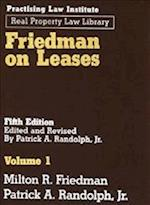 Friedman on Leases (3 Vols) (Practising Law Institutes Real Property Law Library)