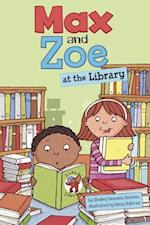 Max and Zoe at the Library af Mary Sullivan