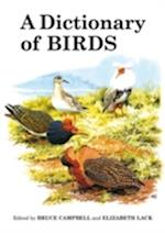 A Dictionary of Birds (Poyser Monographs, nr. 108)