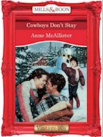 Cowboys Don't Stay (Mills & Boon Vintage Desire)