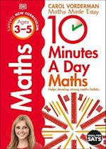 10 Minutes a Day Maths Ages 3-5 (Reissues Education 2014)