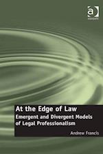 At the Edge of Law af Andrew Francis
