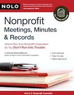 Nonprofit Meetings, Minutes & Records af Anthony Mancuso
