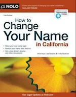 How to Change Your Name in California af Lisa Sedano, Emily Doskow