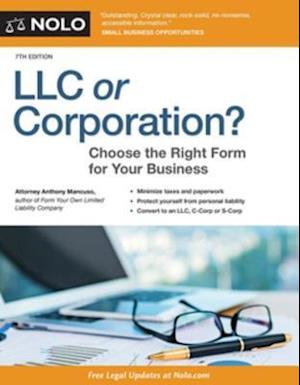 LLC or Corporation? af Anthony Mancuso