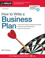 How to Write a Business Plan (HOW TO WRITE A BUSINESS PLAN)