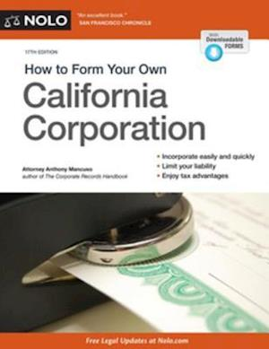 How to Form Your Own California Corporation af Anthony Mancuso