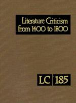 Literature Criticism from 1400 to 1800 af Gale
