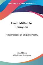 From Milton to Tennyson af Alfred Tennyson, John Milton