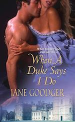When a Duke Says I Do af Jane Goodger