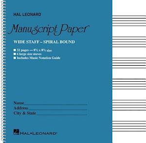 Bog, paperback Wide Staff Wirebound Manuscript Paper af Hal Leonard Publishing Corporation