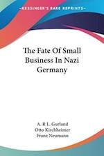 The Fate of Small Business in Nazi Germany