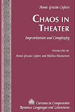 Chaos in Theater (Currents in Comparative Romance Languages Literatures, nr. 248)