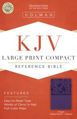 Ukendt format KJV Large Print Compact Reference Bible, Purple Leathertouch, Indexed