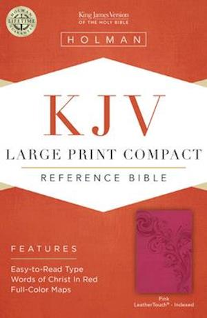 KJV Large Print Compact Reference Bible, Pink Leathertouch, Indexed