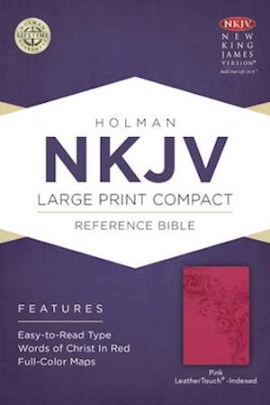 Ukendt format NKJV Large Print Compact Reference Bible, Pink Leathertouch, Indexed