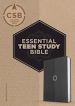 CSB Essential Teen Study Bible, Charcoal Leathertouch