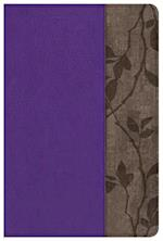KJV Study Bible Personal Size, Purple with Brown Cork Leathertouch