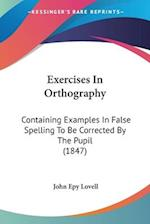 Exercises in Orthography af John Epy Lovell