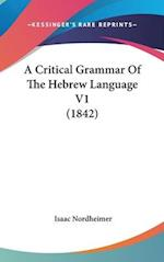 A Critical Grammar of the Hebrew Language V1 (1842)